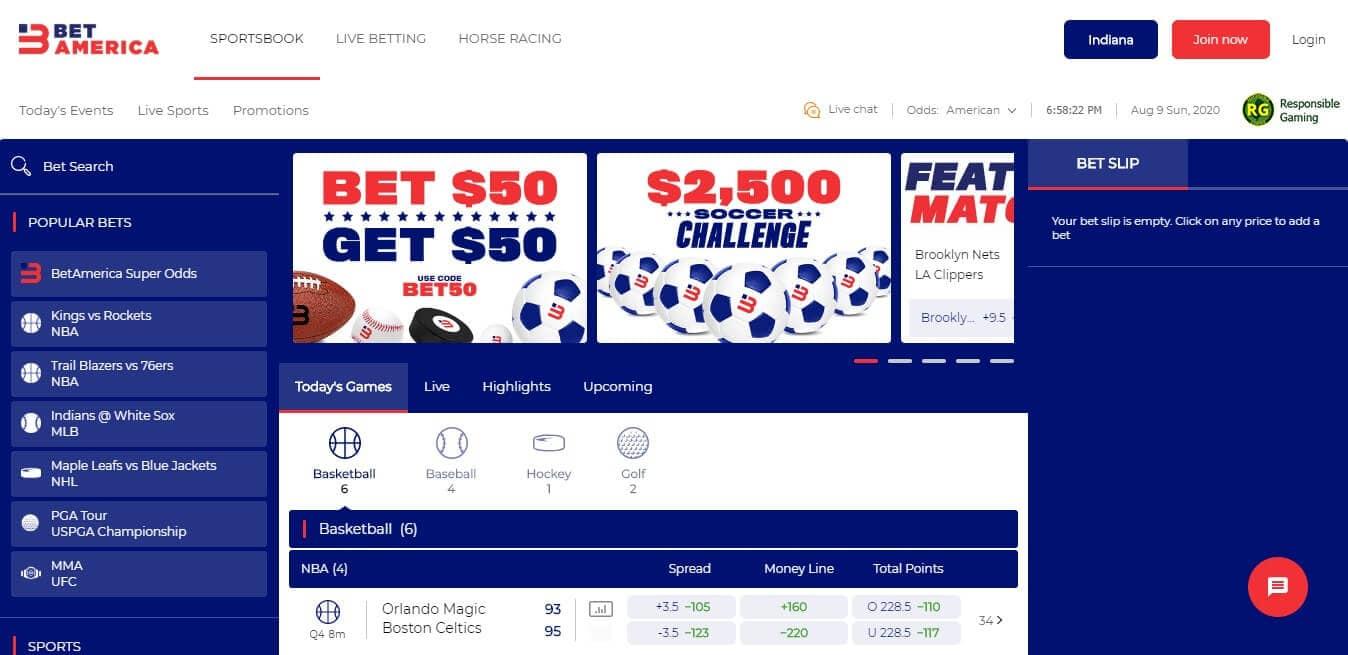 BetAmerica Racebook
