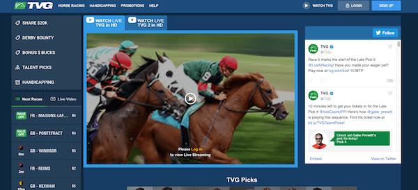 Betting at TVG Online Racebook