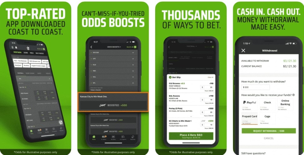 DraftKings DFS Betting Mobile